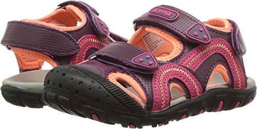 Kamik Girls' Seaturtle Sandal, Dark Purple/Magenta, 12 M US Little Kid