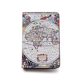 Novelty Leather Passport Cover - Vintage Passport Wallet - Travel Accessory Gift - Vintage World Map Cover - Travel Wallet for Women and Men
