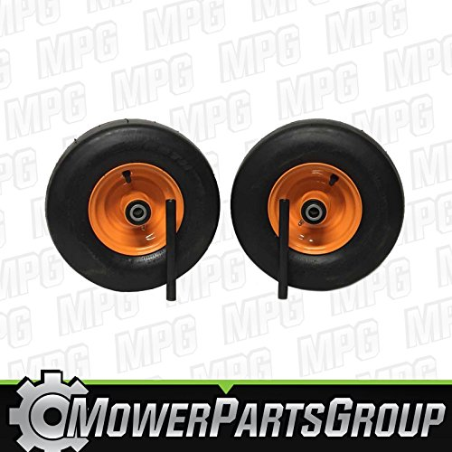 MowerPartsGroup (2) Scag Wheel Assemblies Turf Tiger Cub 13x6.50-6 Replaces 482504 483050 9278 ()