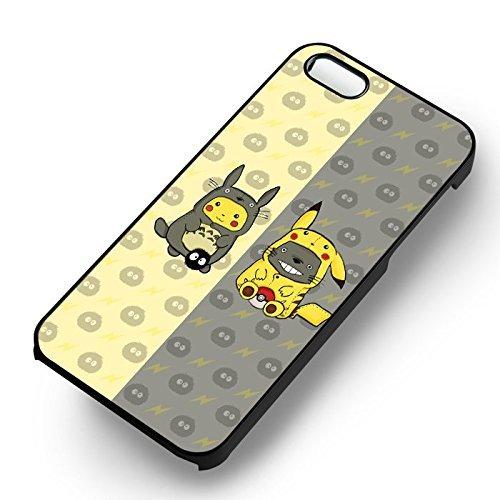 Pokemon Pikaro pour Coque Iphone 6 et Coque Iphone 6s Case (Noir Boîtier en plastique dur) R6N7TX