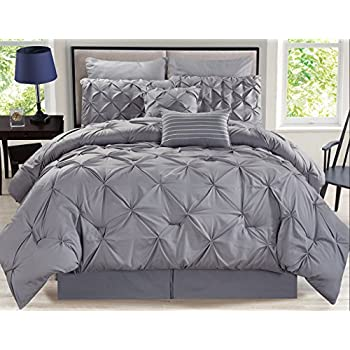 free shipping 5 Piece Jervis Gray Comforter Set Queen