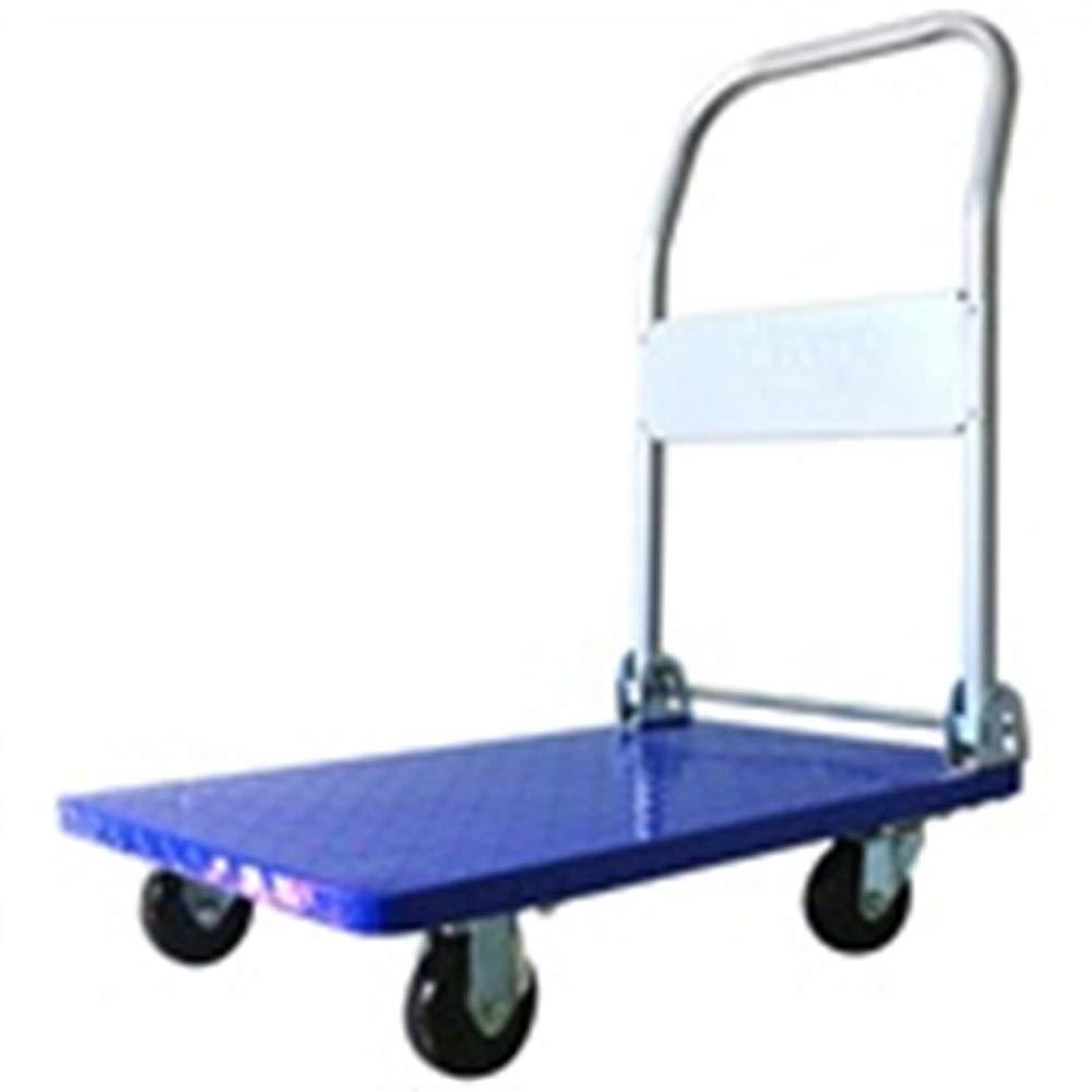 KTYXDE トロリー家庭用折りたたみポータブルミュートトロリー車のショッピングカート荷物カートトラックトレーラー厚い鋼板は150キロ耐えることができます トロリー (Color : Blue) B07T1CGC5Z Blue