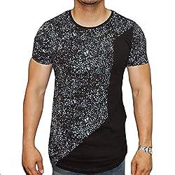 Men Summer Sequins Bodycon Plus Size T-shirt