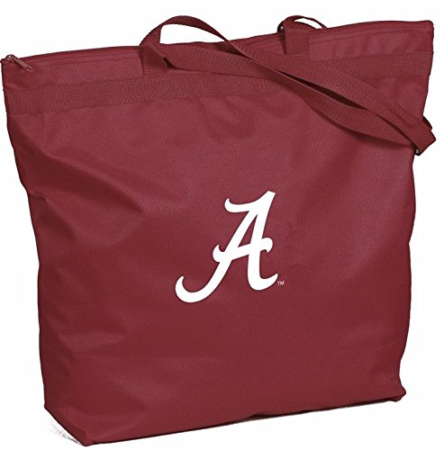 Desden Jumbo Canvas Zipper Tote Bag 18 Inch Wide x 16 Inch High x 5 Inch Deep - University of Alabama ()