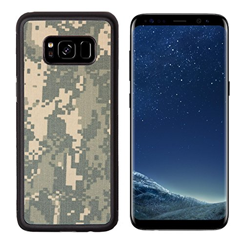 g Galaxy S8 Aluminum Backplate Bumper Snap Case IMAGE ID: 20126822 US army acu digital camouflage fabric texture background ()