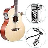 Banstore Full Set 4-Band Eq Equalizer Piezo Pickup Eq-7545R Acoustic Guitar Preamp Tuner