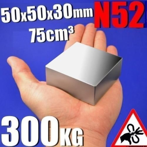 AOMAG Rare Earth Neodymium N52 Bar Block Rectangular Magnet 50 x 50 x 30mm