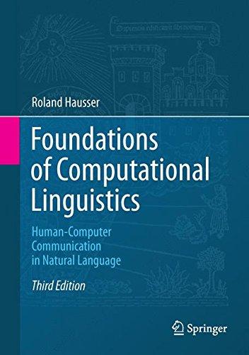 Computational Foundations - Foundations of Computational Linguistics: Human-Computer Communication in Natural Language