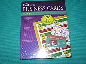 royal brites business cards inkjet white 2 pack 1 000 cards each box office. Black Bedroom Furniture Sets. Home Design Ideas