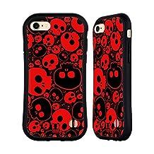 Head Case Designs Red Jazzy Skulls Hybrid Case for Apple iPhone 5 / 5s / SE