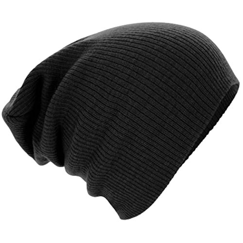 Unisex Boys' Warm Winter Slouchy Beanie Soft Stretch Cotton Cap Thick Knitted Hat