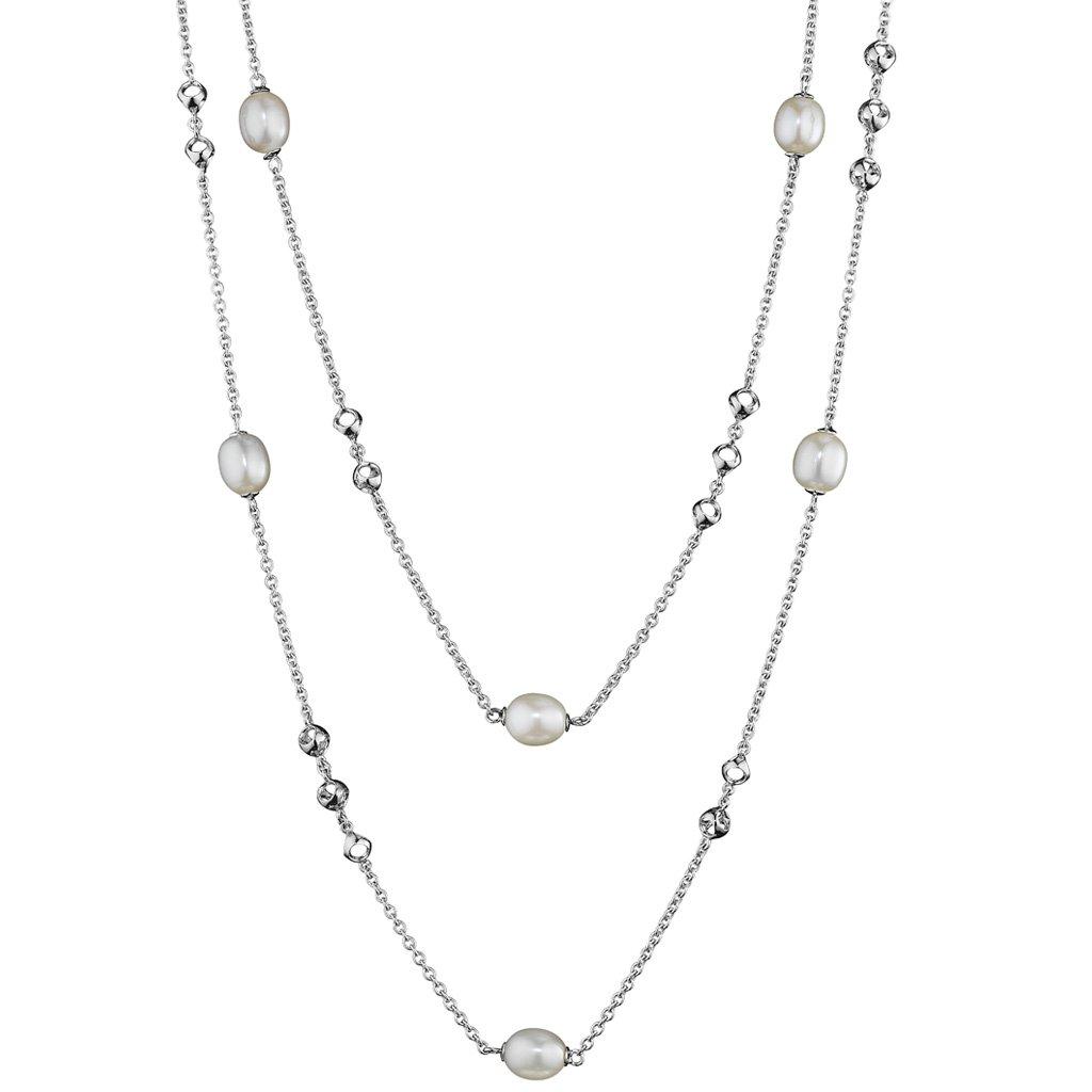 Di MODOLO Icona Pearl 42'' Necklace in Sterling Silver