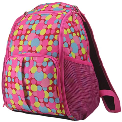 Smallt Multifunction Larger Capacity Diaper Bags Environmental Friendly Mummy Backpacks (bright pink)