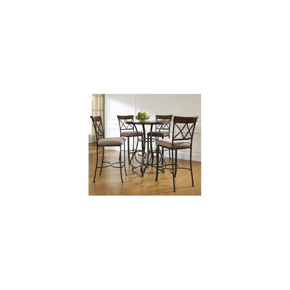 5 Pc. Hamilton Pub Table Set with 4 Bar Stools   By Powell