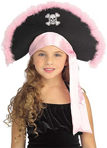 UHC Girl's Pirate Hat Headpiece Funny Theme Party Child Halloween Accessory