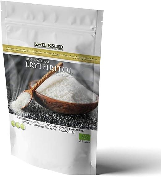 NATURSEED - Eritritol Ecológico Bio 100% Natural - Sustitutivo del azúcar con 0 Kcal - Apto Para Todas Las Dietas - Paleo - Keto - NO GMO (1 KG)