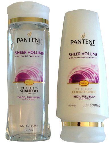 Volume Weightless Bundle: Shampoo and Conditioner 12.6 Fl Oz (Pantene Sheer Shampoo)
