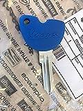 OEM Vespa blue blank slave key Ignition Fork Seat