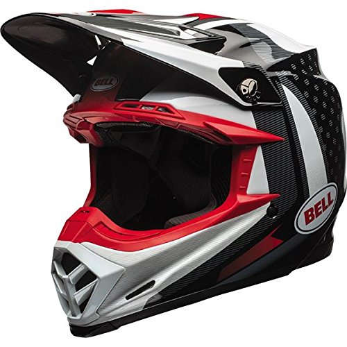 Bell Moto-9 Flex Off-Road Motorcycle Helmet (Gloss Black/White/Red Vice, ()