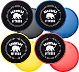 Gliding Discs - Core Sliders for Strength and Stability - Abdominal and Glutes Exercise Slides for Home and Gym Work Out - Works on Carpet and Hardwood Floors by AARDVARK