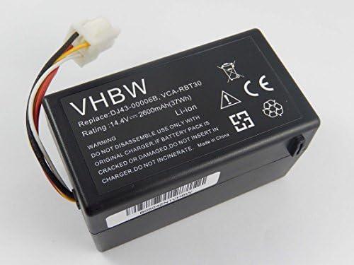 vhbw Batería Li-Ion 2600mAh (14.4V) para robot aspidador doméstico ...