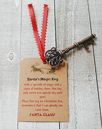 Santa's Magic Key - Christmas Keepsake - Kids Christmas Eve Gift - Key for Santa Claus ()