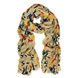 This pretty birds and butterflies patterned scarf is a great addition to your collection of fashion accessories. Trendy and versatile. Thin and light weight. Soft to touch and comfortable to wear. Perfect for spring to fall seasons. Brings you simple...