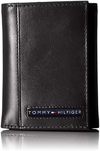 Tommy Hilfiger Men's Leather Cambridge Trifold Wallet