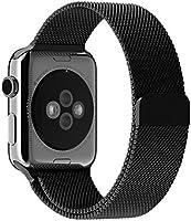 JETech Correa para Apple Watch 42mm, Cerradura Magnética, Acero Inoxidable, Reemplazo de Pulsera de la Muñeca, Color Negro
