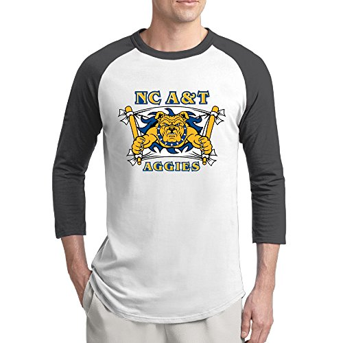 WG NC North Carolina A&T State University Aggies Fashion 3/4 Sleeve Shoulder Tshirt Black Mens Undershirts Medium (Wentworth Merchandise compare prices)