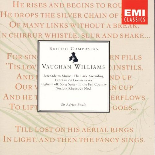 Vaughan Williams: Serenade to Music; The Lark Ascending; Fantasia on Greensleeves; English Folk Song Suite; In the Fen Country; Norfolk Rhapsody No. 1 (Vaughan Williams Folk Song)