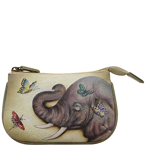 Anuschka Women's Leather Coin Purse | Genuine Soft Leather | Hand-painted Original Art | Gentle Giant