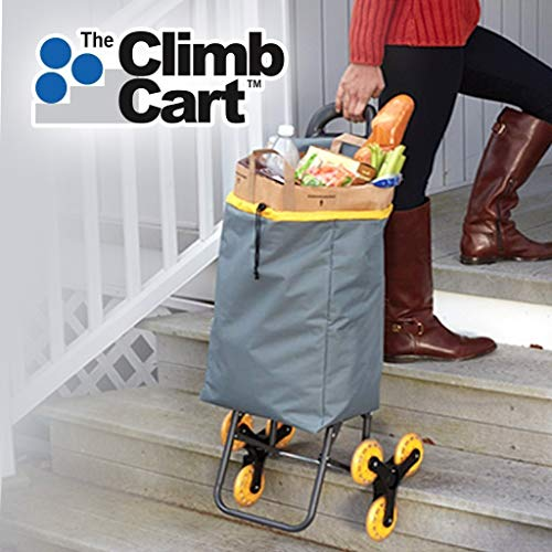 Climb Cart by BulbHead - The Folding Cart That Climbs Stairs with Ease -  Holds up to 75 Pounds (1 Pack)
