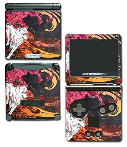 Okami Okamiden Wolf God Japanese Art Video Game Vinyl Decal Skin Sticker Cover for Nintendo GBA SP Gameboy Advance System