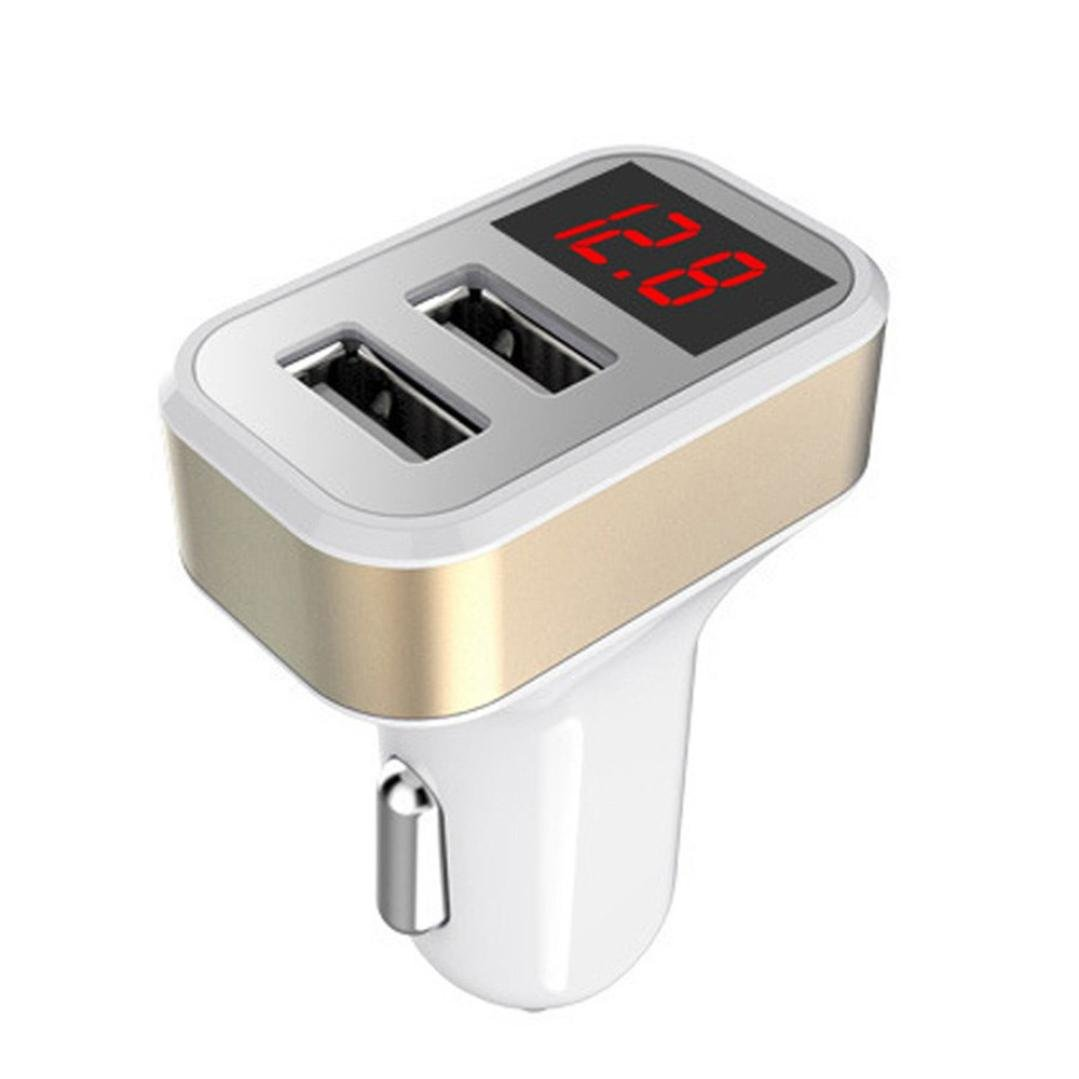Car Charger Adapter,PrettyW Dual Port USB 4.8A Car Charger Adapter Fast Adaptive For iPhone/Samsung Galaxy (Silver)