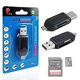 DURAGADGET USB 2.0 + Micro USB SD / MicroSD OTG Card Reader for the Motorola Moto G 3rd Generation / Motorola Moto E 2nd Generation