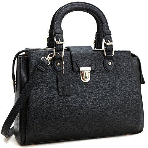 Black Satchel Handbag - 4
