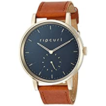 Rip Curl Women's 'Horizon' Quartz Stainless Steel and Leather Sport Watch, Color:Brown (Model: A2886G-NAV)