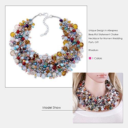 Buy beaded bib necklace for women