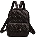 Fiswiss Women's Genuine Leather Backpack For Travel Handbags Purses (Black)