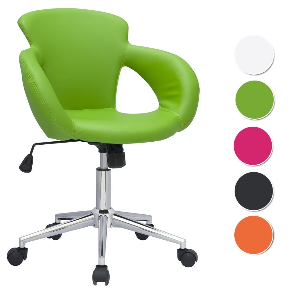 SixBros. Bürostuhl grün Design Rollhocker