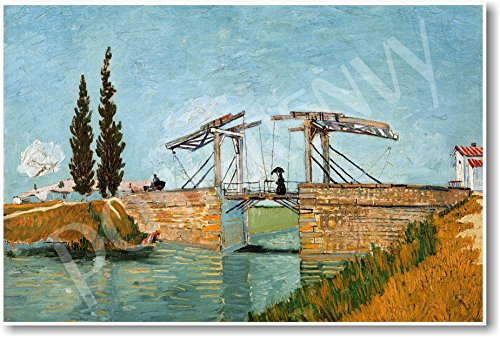 (Vincent van Gogh - Langlois Bridge at Arles 1888 - NEW Fine Arts Poster)