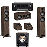 Jamo Studio Series 3.1.2 Walnut Home Theater System with S 807 Towers and Denon AVR-X3400H Receiver