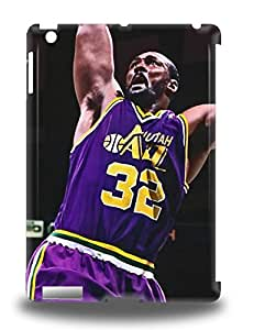 Ipad Air Hard Back With Bumper Silicone Gel Tpu 3D PC Case Cover NBA Utah Jazz Karl Malone #32 ( Custom Picture iPhone 6, iPhone 6 PLUS, iPhone 5, iPhone 5S, iPhone 5C, iPhone 4, iPhone 4S,Galaxy S6,Galaxy S5,Galaxy S4,Galaxy S3,Note 3,iPad Mini-Mini 2,iPad Air )