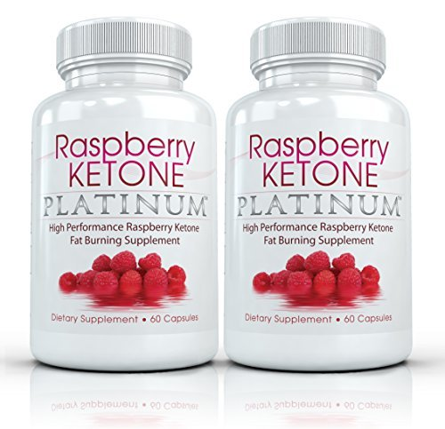 Raspberry Ketone Platinum (2 Bottles) - Clinical Strength - All Natural Fat Burning, Weight Loss, Diet Supplement. 600mg (60 Capsules per Bottle) by Raspberry Ketone Platinum