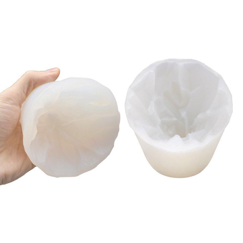 Compra Tazas de jabón hecho a mano Solo pequeño molde mousse del volcán molde de la hornada de DIY molde de fondant de silicona molde de la torta del ...
