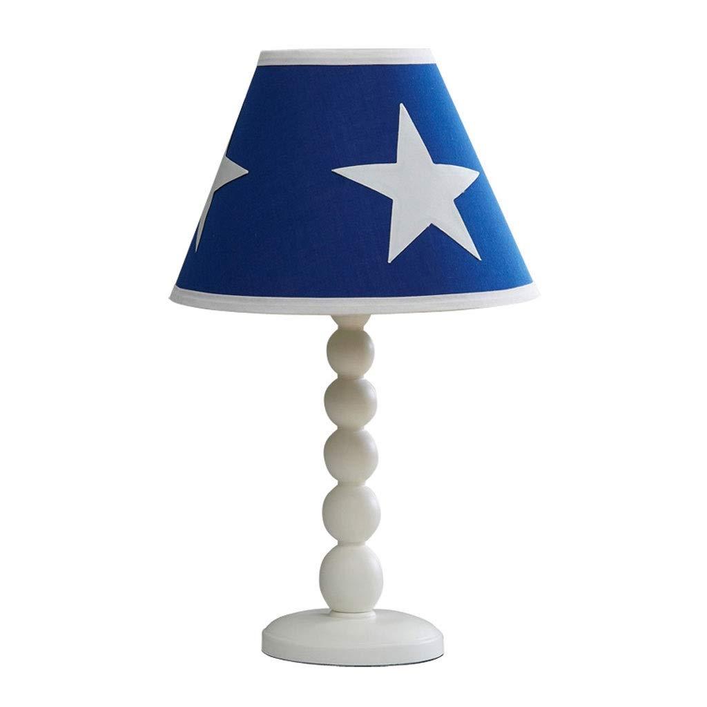 Star Pattern Table Lamp Children's Model Room Boy Bedroom Lamp Bedside Lamp Nordic Wood Decorative Lamps