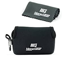 MegaGear ''Ultra-Light'' Neoprene Camera Case, Bag - Protective Cover for Sony Cyber-shot DSC-RX100 V, DSC-RX100 IV, Olympus Tough TG-4, TG‑5 - with Carabiner for Easy Carrying (Black)