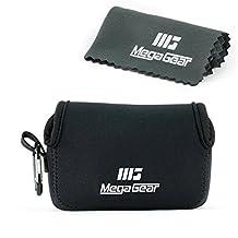 MegaGear ''Ultra Light'' Neoprene Camera Case Bag with Carabiner for Sony DSC-RX100M II, DSC-RX100 III, DSC-RX100 IV (Black)