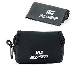 MegaGear ''Ultra Light'' Neoprene Camera Case Bag with Carabiner for Canon G16, G15, Sx170, Sx160, SX720, SX710, SX700, Sony DSC-HX50, DSC-HX60V cameras (Black)
